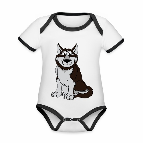 Husky - Baby Bio-Kurzarm-Kontrastbody