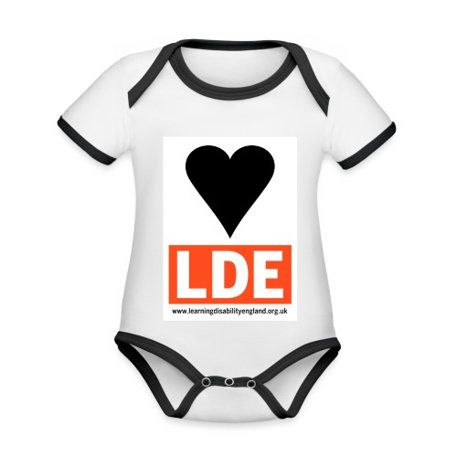 I Love Learning Disability England - Organic Baby Contrasting Bodysuit