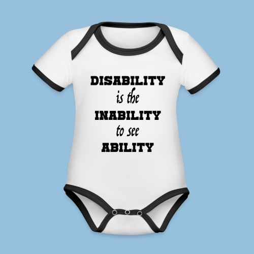 Ability4 - Baby contrasterend bio-rompertje met korte mouwen