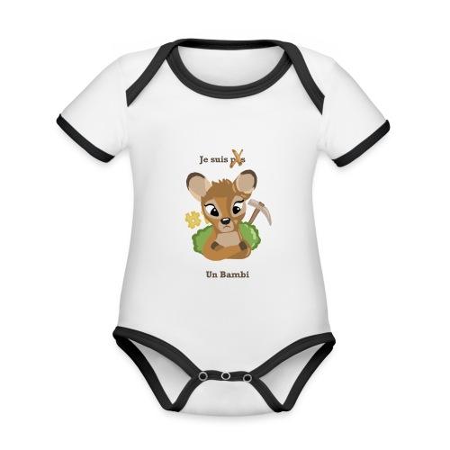 Je suis un bambi - Body Bébé bio contrasté manches courtes
