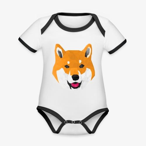 Shiba Dog - Body Bébé bio contrasté manches courtes