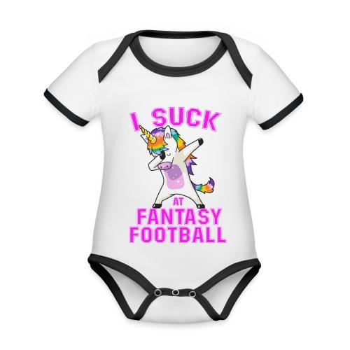 FANTASY - Ekologisk kontrastfärgad kortärmad babybody
