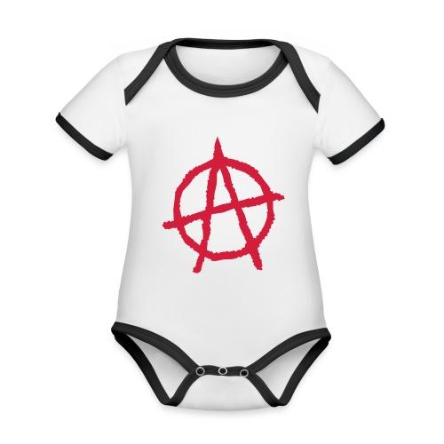 Anarchy Symbol - Organic Baby Contrasting Bodysuit