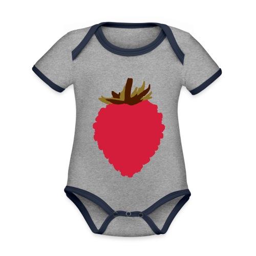 Wild Strawberry - Organic Baby Contrasting Bodysuit