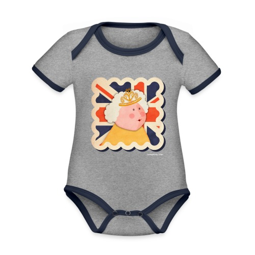 The Queen - Organic Baby Contrasting Bodysuit