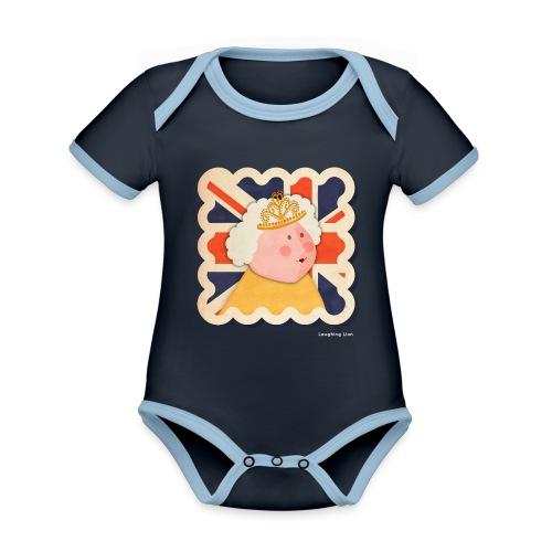 The Queen - Organic Baby Contrasting Bodysuit