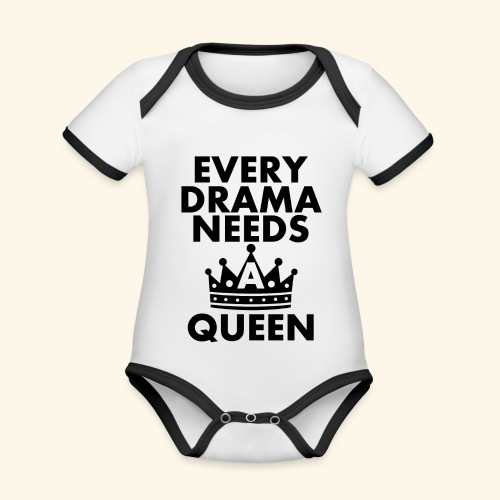 EVERY DRAMA black png - Organic Baby Contrasting Bodysuit