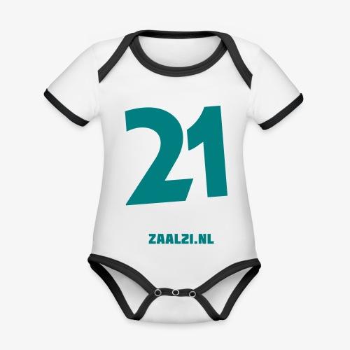 zaal-achterkant - Baby contrasterend bio-rompertje met korte mouwen