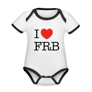 I Love FRB - Børnekollektion - Kortærmet ækologisk babybody i kontrastfarver