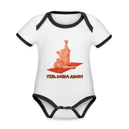 Schweindi-Stira-Sukham - Baby Bio-Kurzarm-Kontrastbody