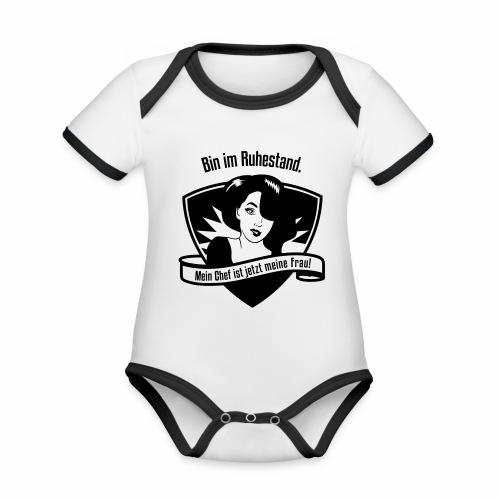 Ruhestand Comic - Baby Bio-Kurzarm-Kontrastbody