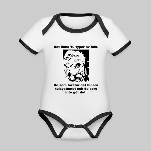 Det finns 10 Typer - Ekologisk kontrastfärgad kortärmad babybody