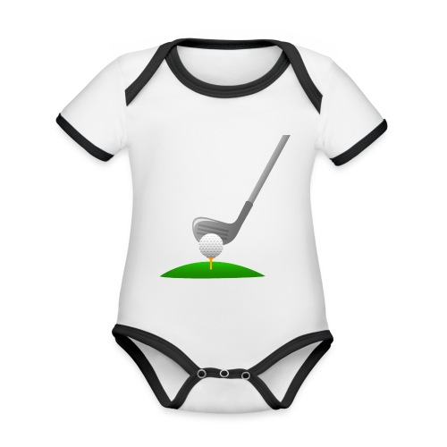 Golf Ball PNG - Body contraste para bebé de tejido orgánico