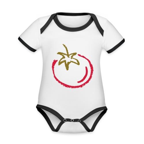 tomato 1000points - Organic Baby Contrasting Bodysuit