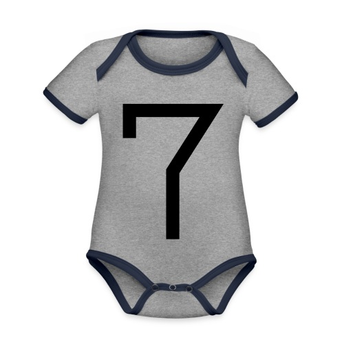 7 - Organic Baby Contrasting Bodysuit