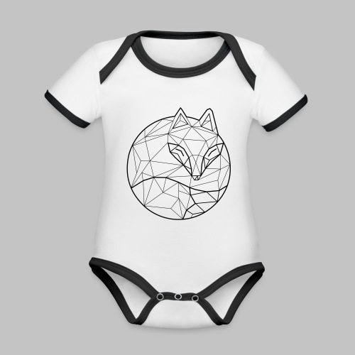 Fox Graph - Organic Baby Contrasting Bodysuit