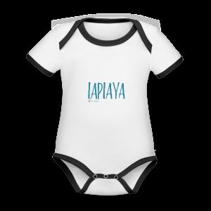 playa - Body contraste para bebé de tejido orgánico