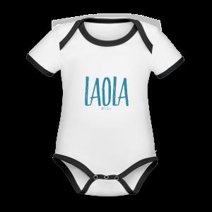 ola - Body contraste para bebé de tejido orgánico