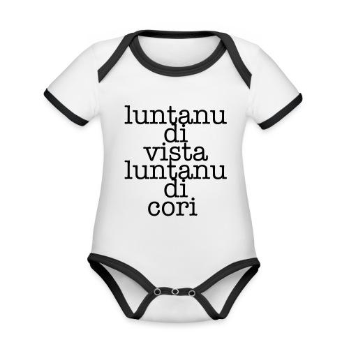 P3 - Body da neonato a manica corta, ecologico e in contrasto cromatico