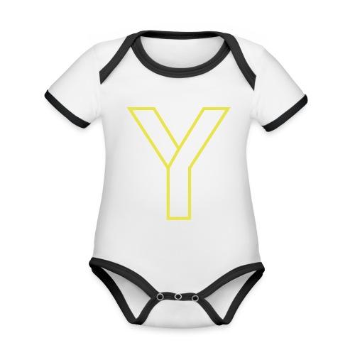 ChangeMy.Company Y Yellow - Baby Bio-Kurzarm-Kontrastbody