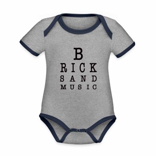 LETTERE OCU BLACK - Body da neonato a manica corta, ecologico e in contrasto cromatico