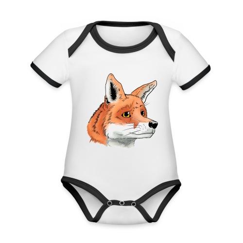 Fuchs - Baby Bio-Kurzarm-Kontrastbody