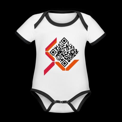 qrcodelogo - Baby Bio-Kurzarm-Kontrastbody