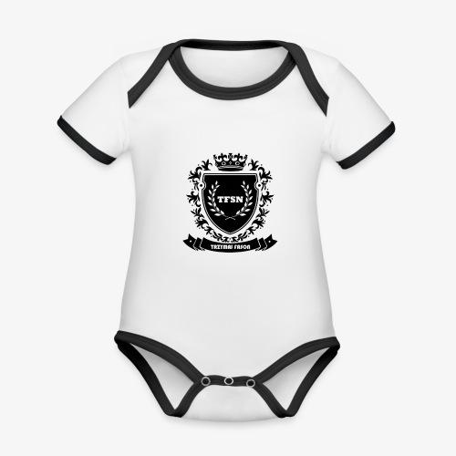 Trzymaj Fason - Ekologiczne body niemowlęce z krótkim rękawem i kontrastowymi lamówkami