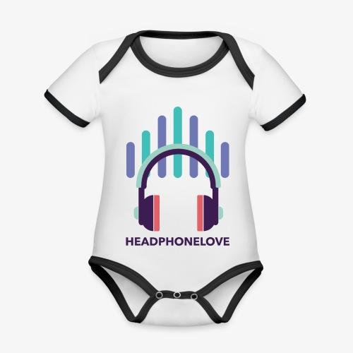 headphonelove - Baby Bio-Kurzarm-Kontrastbody