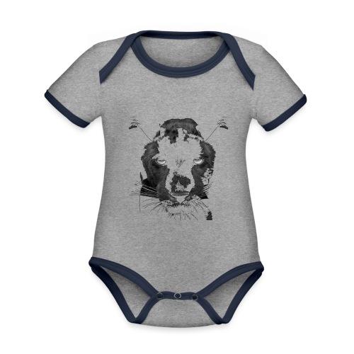 Pantere - Body Bébé bio contrasté manches courtes
