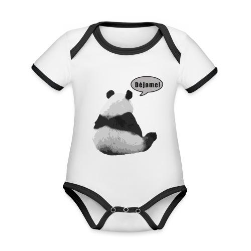 Panda Dejame - Body contraste para bebé de tejido orgánico