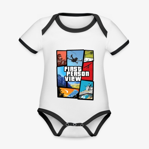 Ultimate Video Game - Organic Baby Contrasting Bodysuit