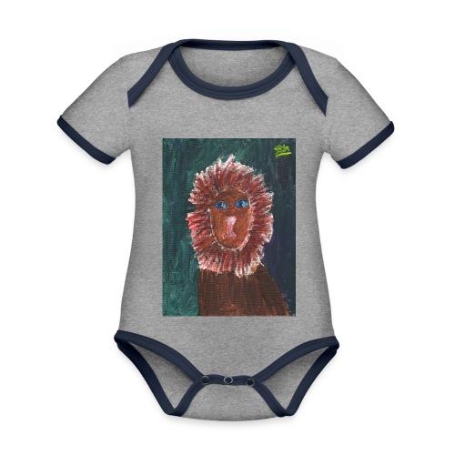 Lion T-Shirt By Isla - Organic Baby Contrasting Bodysuit