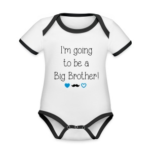I'm going to be a big brother - Organic Baby Contrasting Bodysuit