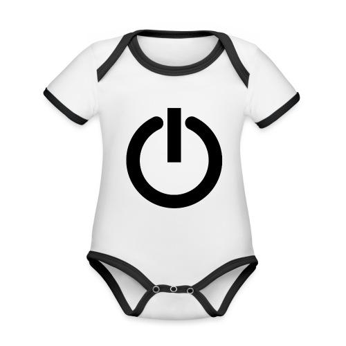 Camiseta GEEK mujer - Arreglo todo reiniciando - Body contraste para bebé de tejido orgánico