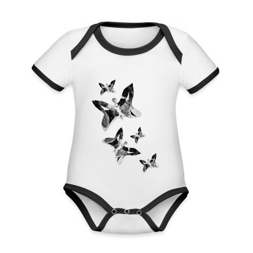 Schmetterlinge - Baby Bio-Kurzarm-Kontrastbody
