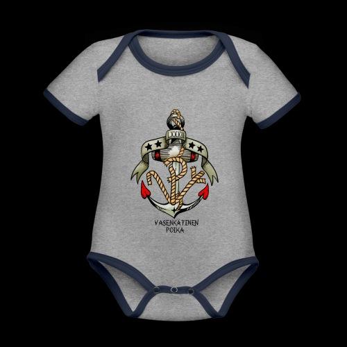 VP Ankkuri Väreillä - Vauvan kontrastivärinen, lyhythihainen luomu-body