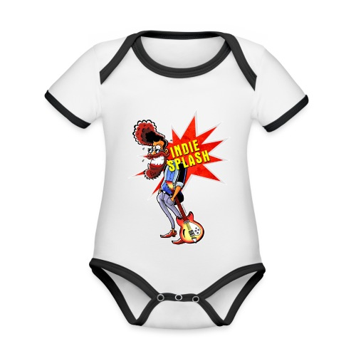Indie Splash - Baby Bio-Kurzarm-Kontrastbody