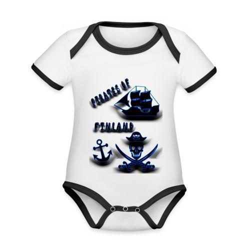 Pirates - Vauvan kontrastivärinen, lyhythihainen luomu-body