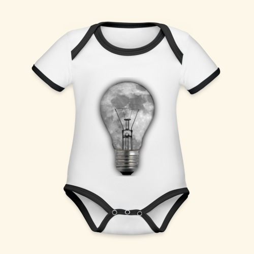 moon bulb - Body contraste para bebé de tejido orgánico