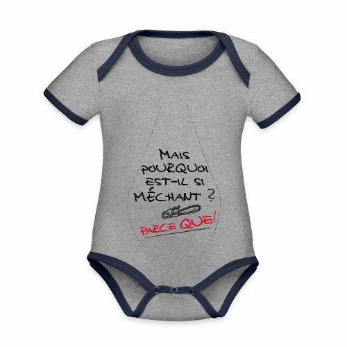 Parce que ! - Body Bébé bio contrasté manches courtes