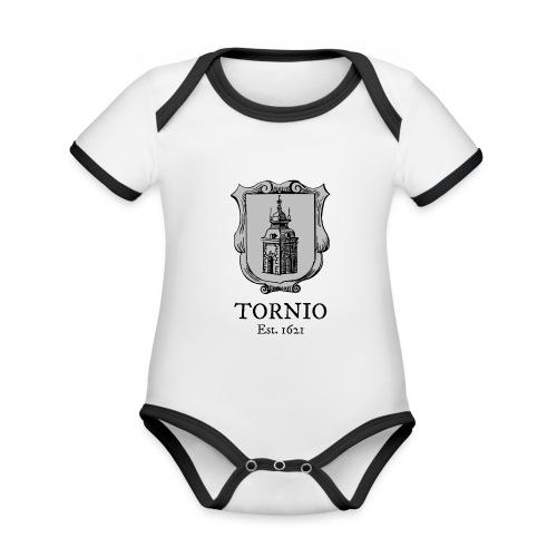 Tornio Est 1621 - Vauvan kontrastivärinen, lyhythihainen luomu-body