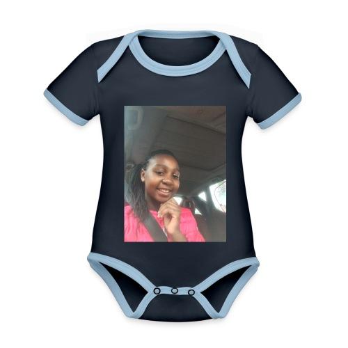 tee shirt personnalser par moi LeaFashonIndustri - Body Bébé bio contrasté manches courtes