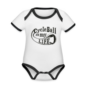 Radball | Cycle Ball is my Life - Baby Bio-Kurzarm-Kontrastbody