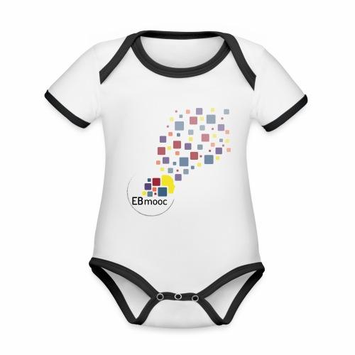 EBmooc T Shirt neutral - Baby Bio-Kurzarm-Kontrastbody