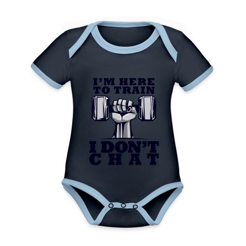 Train Chat - Vauvan kontrastivärinen, lyhythihainen luomu-body