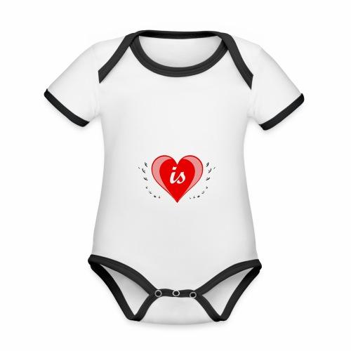 Life is good - Baby Bio-Kurzarm-Kontrastbody