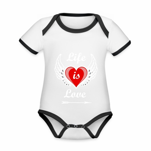 Life is Love - Baby Bio-Kurzarm-Kontrastbody