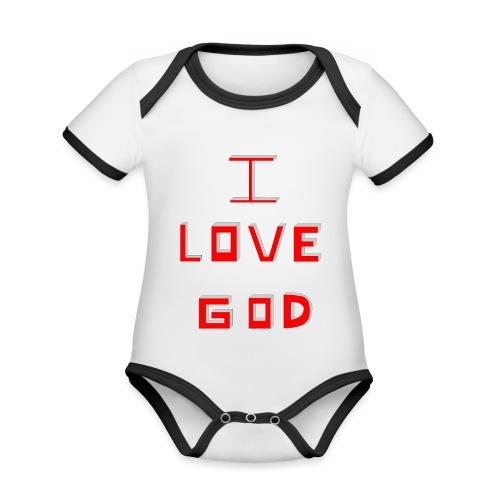 I LOVE GOD - Body contraste para bebé de tejido orgánico