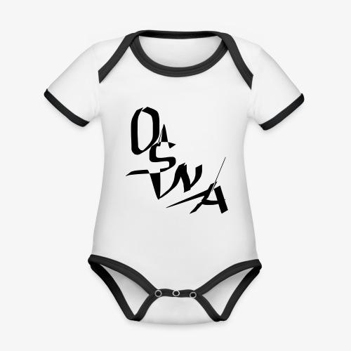 OSNA COMPANY - Ekologiczne body niemowlęce z krótkim rękawem i kontrastowymi lamówkami